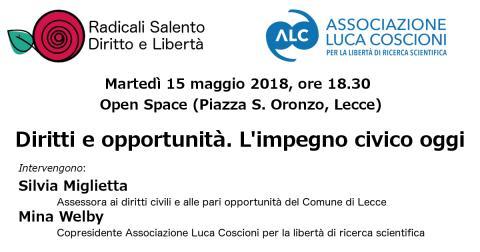ore 18.30, Open Space (piazza S. Oronzo, Lecce)